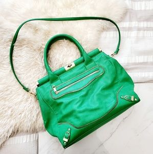 Olivia + Joy Emerald Green and Gold Handbag
